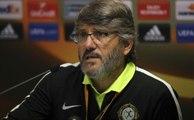 Osmanlıspor Teknik Direktörü Akçay ve Futbolcusu Webo Basın Toplantısında Konuştu