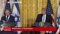 """""""Renforçons cette alliance entre les Etats-Unis et Israël"""" Conférence de Presse de Netanyahou et Trump"""
