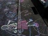 Streetart in Heidelberg, Germany, Kreidezeichnungen - chalk drawing