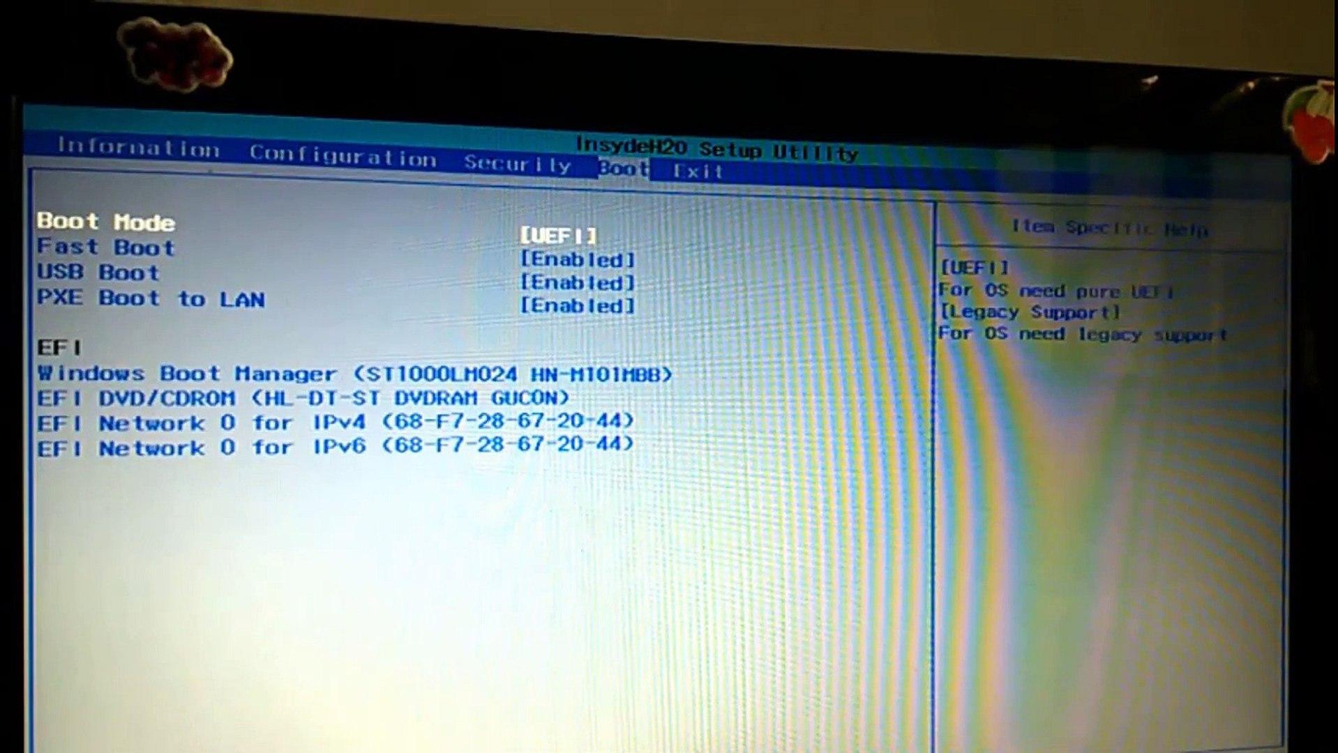 Clean Install windows 10/8 1 with cd/usb, Bios setup HD