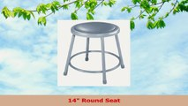 National Public Seating 6418CN Steel Stool with 18 Vinyl Upholstered Seat Grey Pack of d4abc918