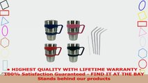 Stainless Steel 188 Drinking Straw  Extra Long 95 Reuseable Bend Bent Straws Sets of 4 14c01277