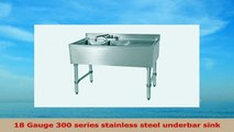 John Boos EUB2S481RD Stainless Steel Bar Sink 2 Compartments 48 Length x 21 Width Right 64593b76