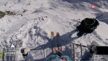 GoPro winning run Lorraine Huber - Chamonix-Mont-Blanc staged in Vallnord-Arcalís FWT17