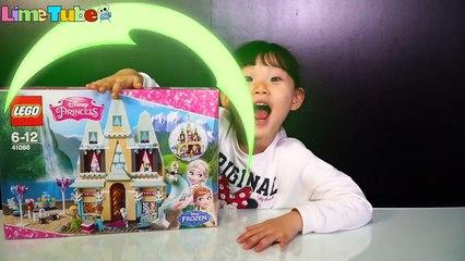Anna's birthday? Elsa's icepalace! Lego Frozen Fever Elsa Anna Olaf Snowman LimeTube&Toy 안나의 생일파티 엘사의 얼음궁전에 놀러갔어요!!