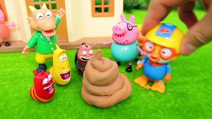 Pororo 'There's something in the big POOP!' Toy animation