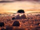 coucher du soleil sur le sable