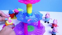 Play Doh de la Magdalena de la Torre de Juguete de Revisión con Play-Doh Plus Hacer el Juego de la Masa de la Magdalena de Sweet Shoppe