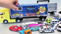 Car Carrier Police Pororo Tayo The Little Bus Garage Learn Numbers Colors Toy Surprise YouTube