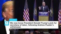 Trump taps Alexander Acosta for labor secretary