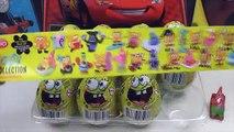 Шоколадные яйца киндер Губка боб квадратные штаны Киндер сюрприз Спанч боб surprise eggs s