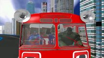 Thor 3D Animation Cartoon Wheels On The Bus Go Round And Round Nursery Rhymes For Children
