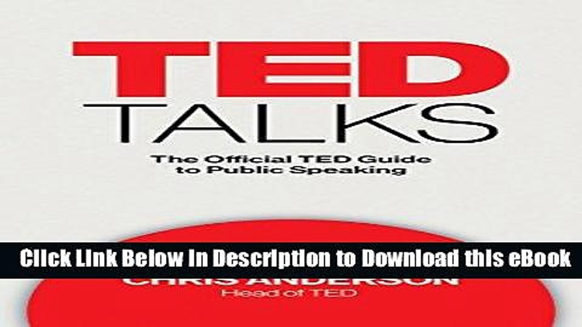[Download] TED Talks: The Official TED Guide to Public Speaking Free Online
