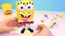 Play Doh Spongebob Squarepants Playset Mold a Sponge Nickelodeon playdough Bob Esponja pla