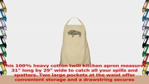 CafePress  Buffalo Text Apron  100 Cotton Kitchen Apron with Pockets Perfect Grilling 08b171dd
