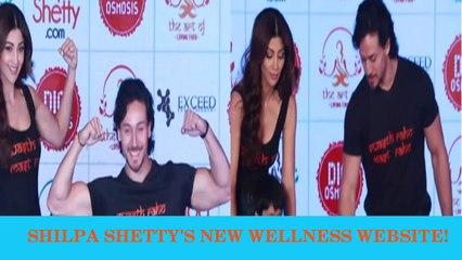 Tiger Shroff At Shilpa Shetty's Fitness Website Launch | www.theshilpashetty.com