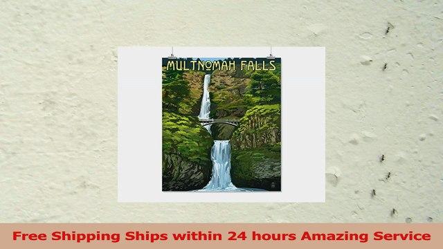 Multnomah Falls Oregon  Summer View 16x24 Giclee Gallery Print Wall Decor Travel Poster e09d5b2e