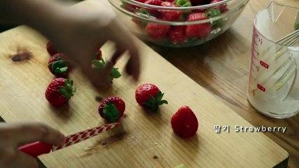 How to make no oven fraisier cake (노오븐 베이킹) 딸기 프레지에 케이크 만들기 셀프 생일 케이크!!!! 이제이레시피-EJ recipe