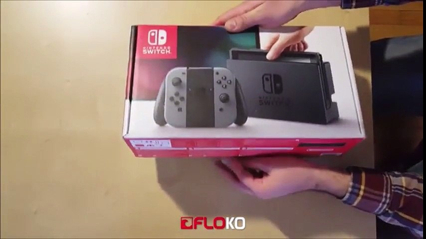 Nintendo Switch unboxing : Première mondiale