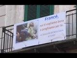 """Portici (NA) - Striscione per il Papa: """"Francè ti vogliamo bene"""" (16.02.17)"""