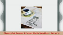 Classy Cat Screen Printed Cloth Napkins  Set of 4 49efb5e8