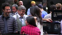 Aman Clooney Visits George Clooney on.....