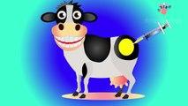 Divertido Vaca Colores de la Jeringa de Inyección en la parte Inferior | Aprender los Colores para los Niños con los Animales