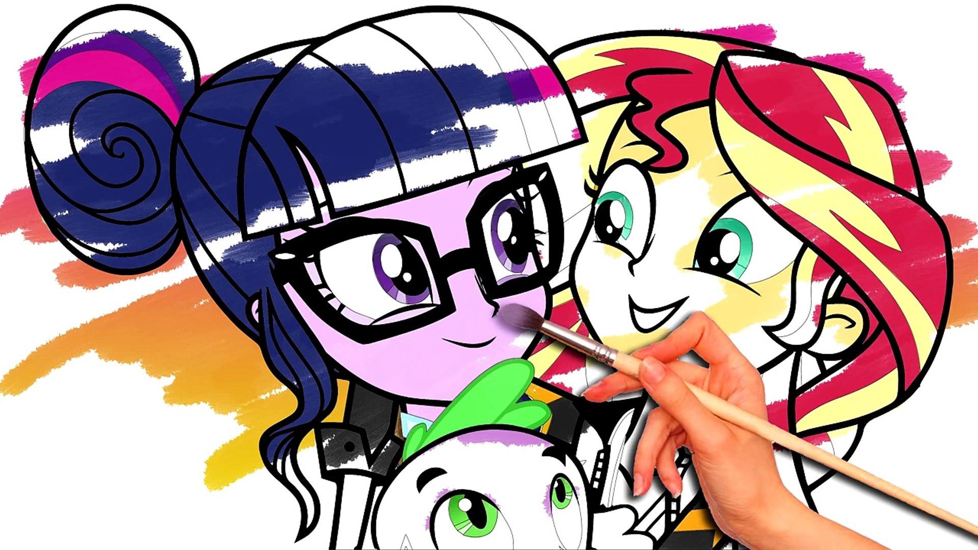 Mi Pequeño Pony Para Colorear Libro De Equestria Girls De La Amistad De Los Juegos De Mlp Velocidad De Dibujo Colori