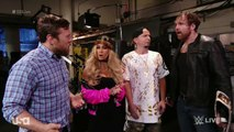 James Ellsworth, Carmella, Dean Ambrose, Daniel Bryan and Baron Corbin Segment