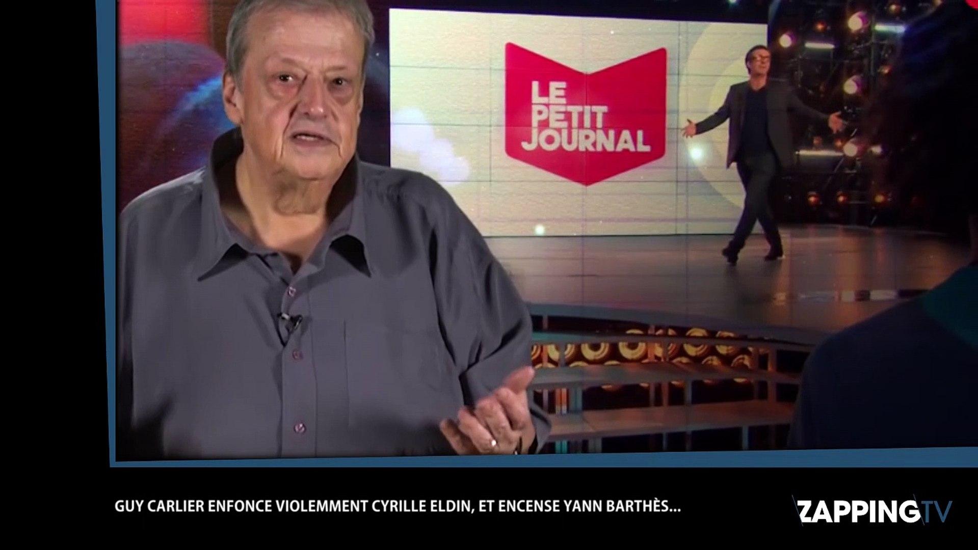 Clash Cyrille Eldin/Yann Barthès : Guy Carlier en rajoute une couche (vidéo)