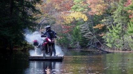 "Chris ""Teach"" McNeil on a BMW Adventure bike"