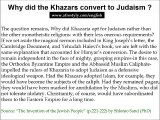 Khazars conversion to Judaism
