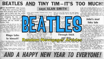 Beatles Newspaper articles