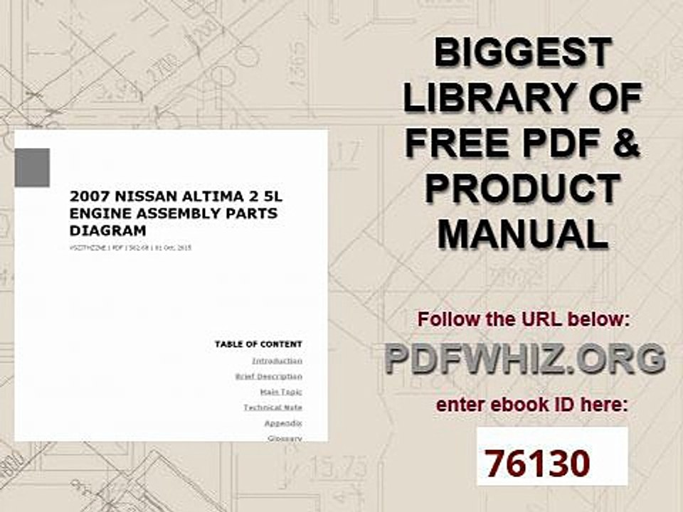 2007 nissan altima 2 5l engine assembly parts diagram subaru engine repair 2 5l engine diagram #9