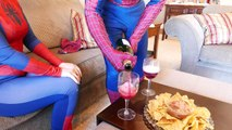 Spiderman and Spidergirl - Real Life Date Farting Accident!! - Superhero Movie.mp4