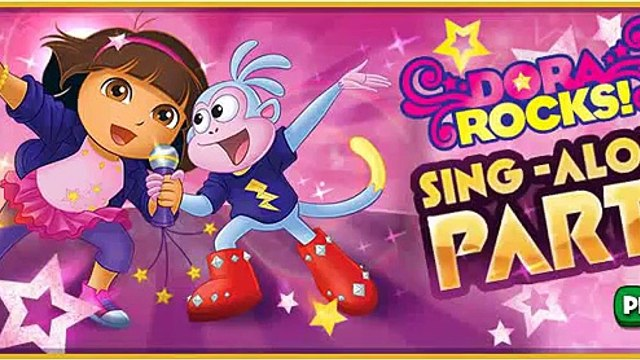 Dora the Explorer Dora Rocks! Sing Along Game Full Episode Game Rock with Dora and Boots!