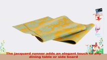 Mahogany Lotus Jacquard Fused Reversible Table Runner 13 by 72Inch Turquoise on Yellow 779bb9eb