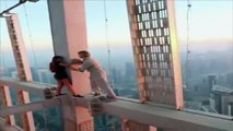 Stunning Russian model slammed for death-defying photoshoot on one of the world's tallest skyscrapers Dubai
