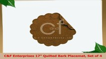 CF Enterprises 17 Quilted Bark Placemat Set of 4 74555f3a