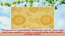 Mahogany Sunflower Jacquard Fused Reversible Placemats 13 by 19Inch Yellow Set of 4 e0d87b4d
