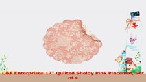 CF Enterprises 17 Quilted Shelby Pink Placemat Set of 4 9a8a1a45