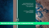 BEST PDF  Mathematics of Neural Networks: Models, Algorithms and Applications (Operations