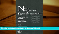 PDF [DOWNLOAD] 1998 Ieee, Neural Networks for Signal Processing [DOWNLOAD] ONLINE