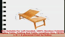 Also Suitable For Lefthanded 100 Bamboo Foldable Laptop Table Folding Bed Table Lengthen 00cfb075