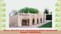 ShinyBeauty 60inx102in Sequin Tablecloth For WeddingParty Champagne Blush e9a88178