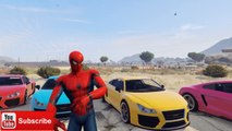 SPIDERMAN COLORS. Lightning McQueen Cars COLORS EPIC PARTY and Nursery Rhymes Children Son