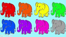 Learn Colors with Surprise Egg Elephant Coloring Pages Rainbow Ice Cream Popsicle Duck