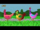 Trois poules aux champs --- Chansons enfantines