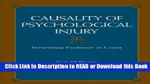 Books Causality of Psychological Injury: Presenting Evidence in Court Download Online