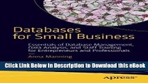 EPUB Download Databases for Small Business: Essentials of Database Management, Data Analysis, and